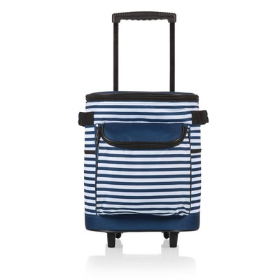 Picnic Time Rolling Cooler - Navy