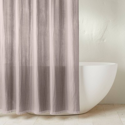 Gauze Shower Curtain Gray - Casaluna™