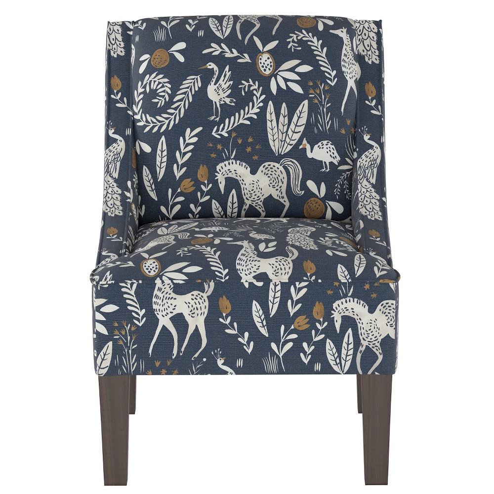 Hudson Swoop Arm Chair Blue Animal Print - Threshold