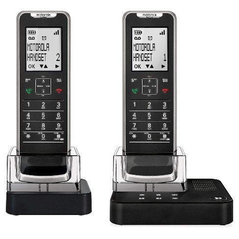 Motorola IT6-2 DECT 6.0 Cordless Phone with Answering Machine, 2 Handsets - Black - image 1 of 3