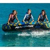 Airhead BLAST 3 Inflatable Open Top 3-Person Towable Water Tube, Tropical Blue - image 3 of 4