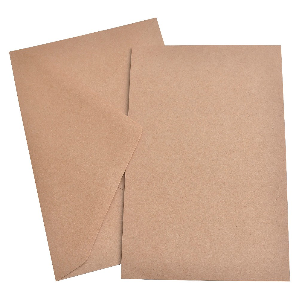 Image of 50ct Plain Flat panel Kraft Invitation