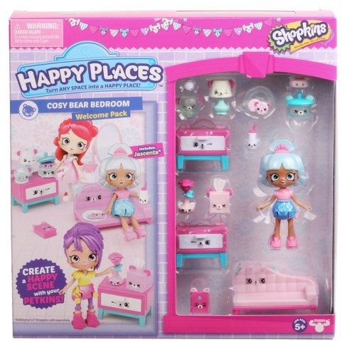 Happy Places™ Shopkins™ Welcome Pack - Cosy Bear Bedroom - image 1 of 5