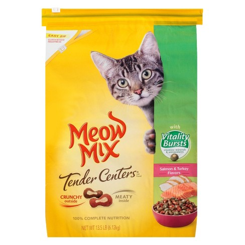 Meow Mix Tender Centers Salmon & Turkey Flavor Dry Cat Food - 13.5lbs - image 1 of 1