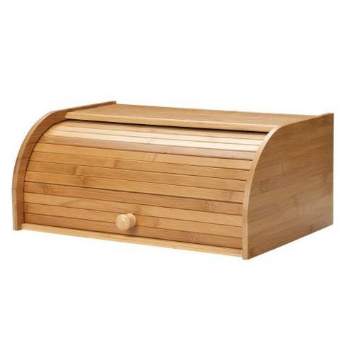 Lipper International Bamboo Rolltop Breadbox