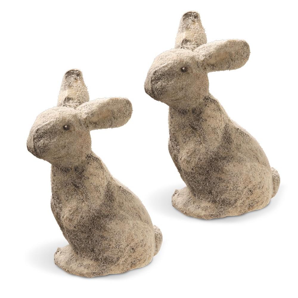 Image of 11 Bunny Pair - National Tree Company, Grey