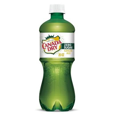 Canada Dry Zero Sugar Ginger Ale Soda - 20 fl oz Bottle