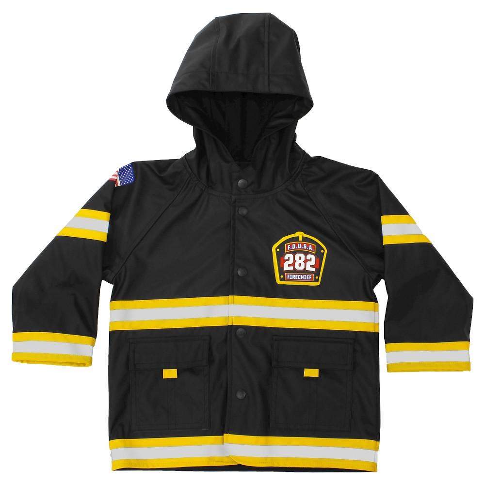 Western Chief Toddler Boys' F.D.U.S.A. Firechief Rain Coats - Black 4T