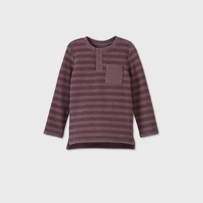 Toddler Boys' 2pk Double Knit T-Shirt - Cat & Jack™ Cream/Burgundy