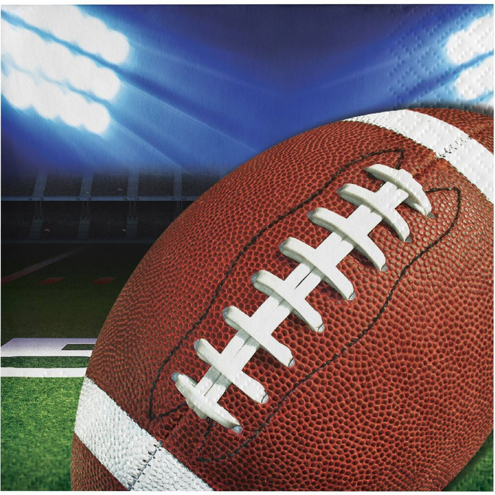 16ct Football Party Beverage Napkins