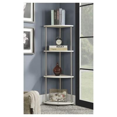 "48"" 4 Tier Corner Shelf White - Breighton Home : Target"