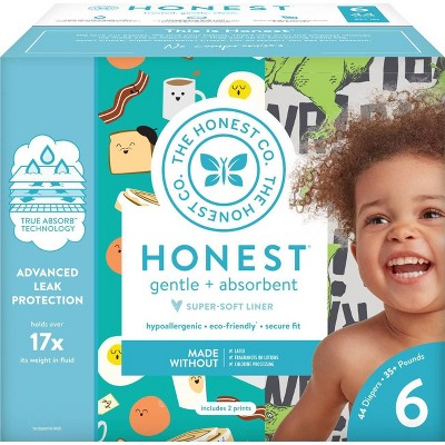 The Honest Company Disposable Diapers T-Rex & Breakfast - Size 6 - 44ct