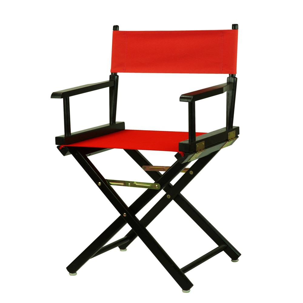 Director S Chair With Black Frame And Red Canvas