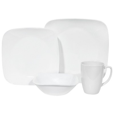 Corelle Square Vitrelle 16pc Dinnerware Set White