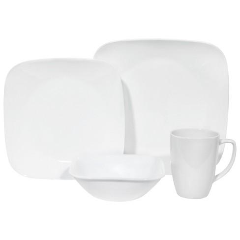 Corelle Square Vitrelle 16pc Dinnerware Set White Target