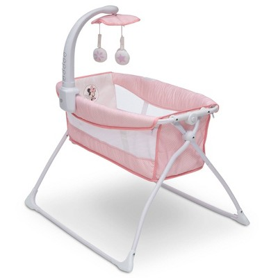 Disney Minnie Mouse Deluxe Activity Sleeper Bassinet for Newborns - Pink