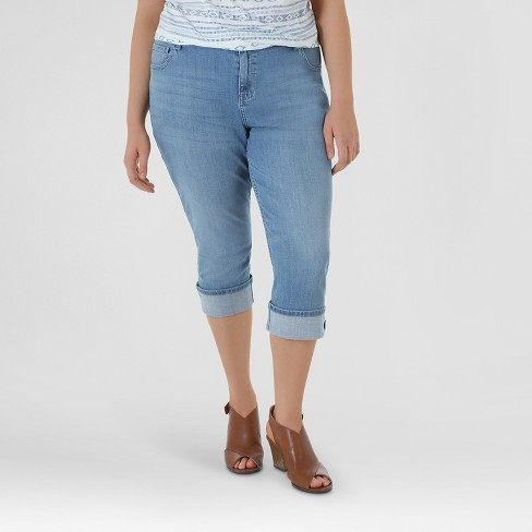 caf8617e1ec Women s Plus Size Straight Capri - Crafted By Lee   Target