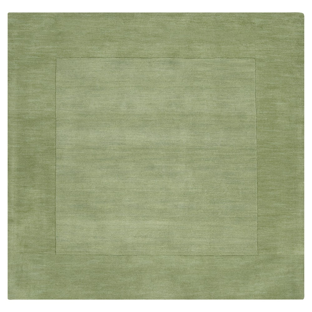 Grass Green Solid Loomed Square Area Rug - (9'X9') - Surya