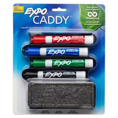EXPO Mountable Whiteboard Caddy With 4 Markers/Eraser Set 1785294