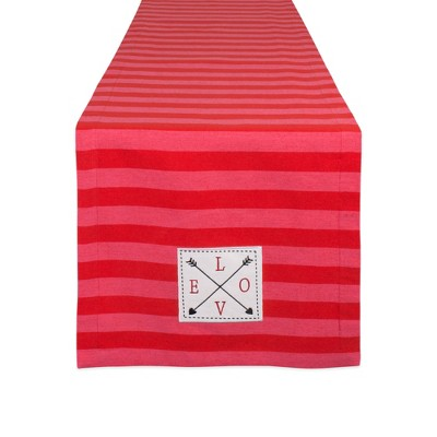 72 x14  In Love Embellished Table Runner Red - Design Imports