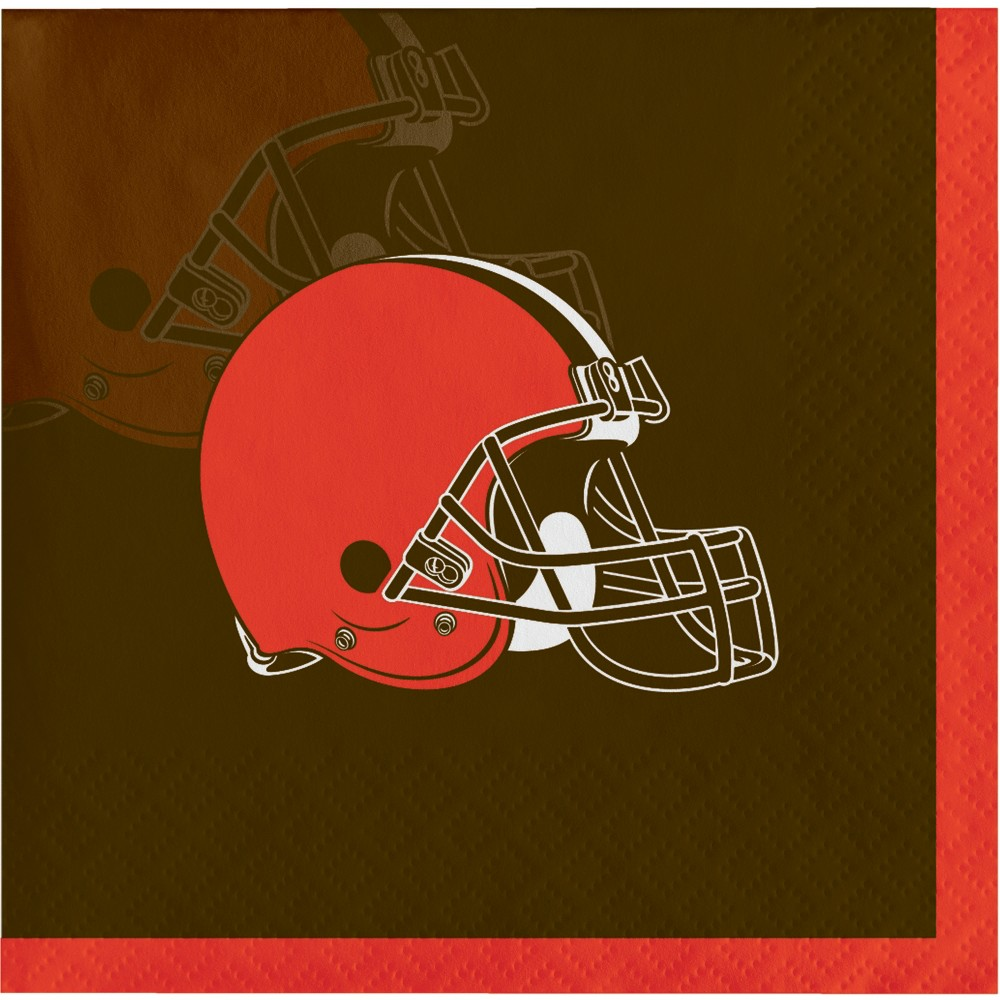 Image of 16ct Cleveland Browns Cocktail Napkins, Multi-Colored