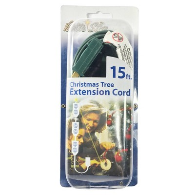 15' Indoor 9 Outlet Extension Cord - Brite Star