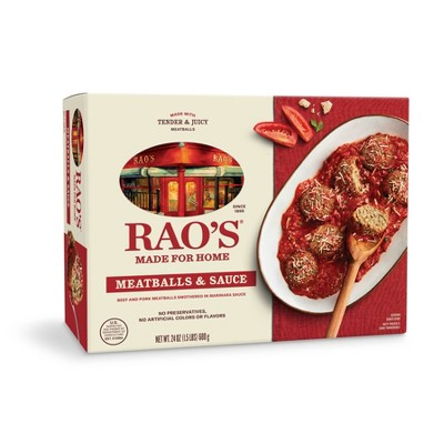 Rao's Made For Home Family Size Frozen Meatballs and Sauce - 24oz