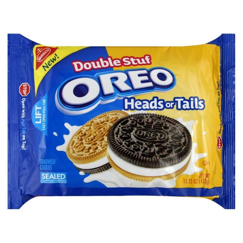 Oreo Double Stuf Heads Or Tails Sandwich Cookies - 15.25oz - image 1 of 1