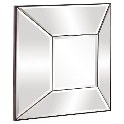 Square Stephen Decorative Wall Mirror Silver - Howard Elliott