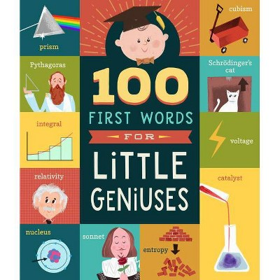 100 First Words for Little Geniuses - by Tyler Jorden (Board_book)