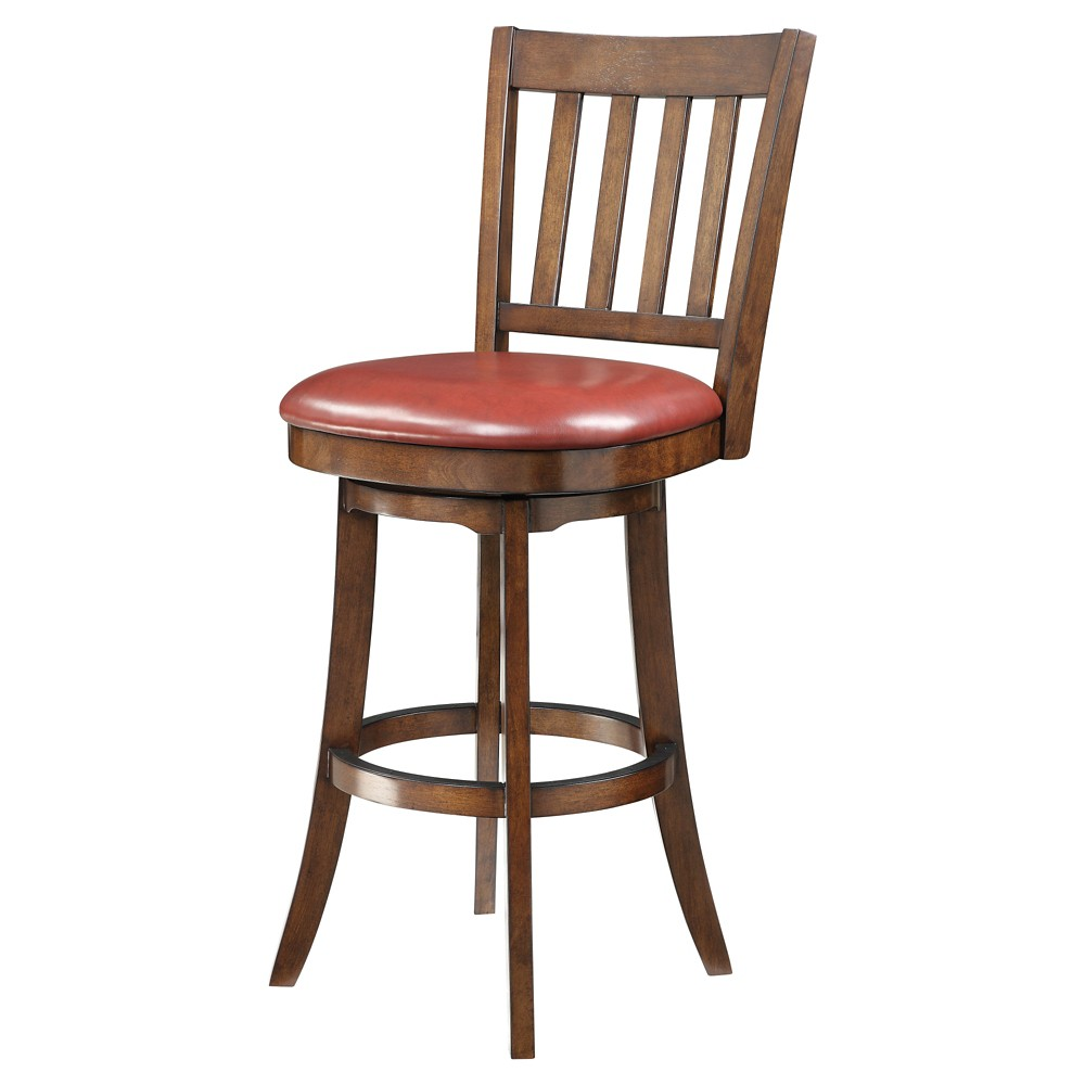 Inspired by Bassett Mission 30 Bar Stool - Red