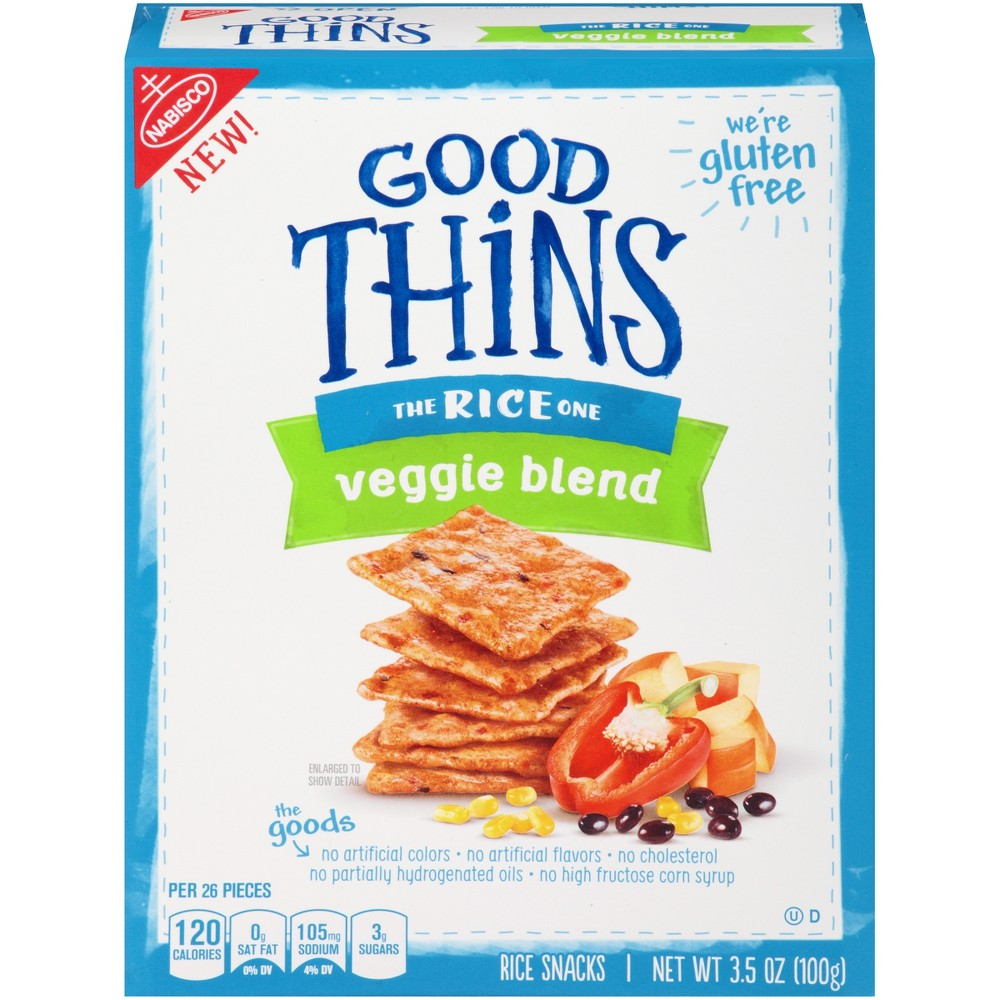 Good Thins: The Rice One - Veggie Blend Crackers - 3.5oz