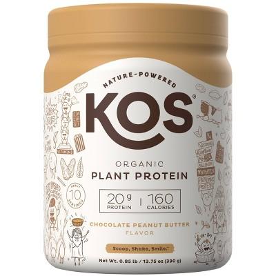 KOS Organic Vegan Protein Powder - Chocolate Peanut Butter - 13.75oz