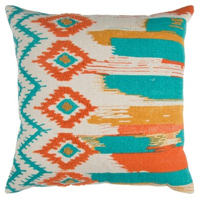 "20""x20"" Oversize Boho Ikat Square Throw Pillow - Rizzy Home"