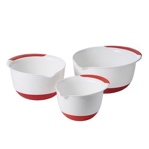 OXO 3pc Mixing Bowl Set with Red Handles - image 1 of 3