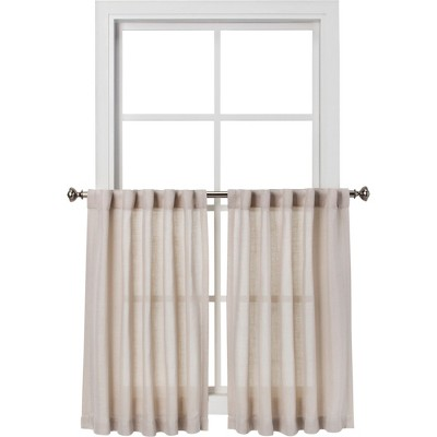 "42""x36"" Curtain Tier Bonaire Beige - Threshold™"