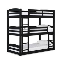 Bertha Triple Floor Bunk Bed Black - Dorel Living