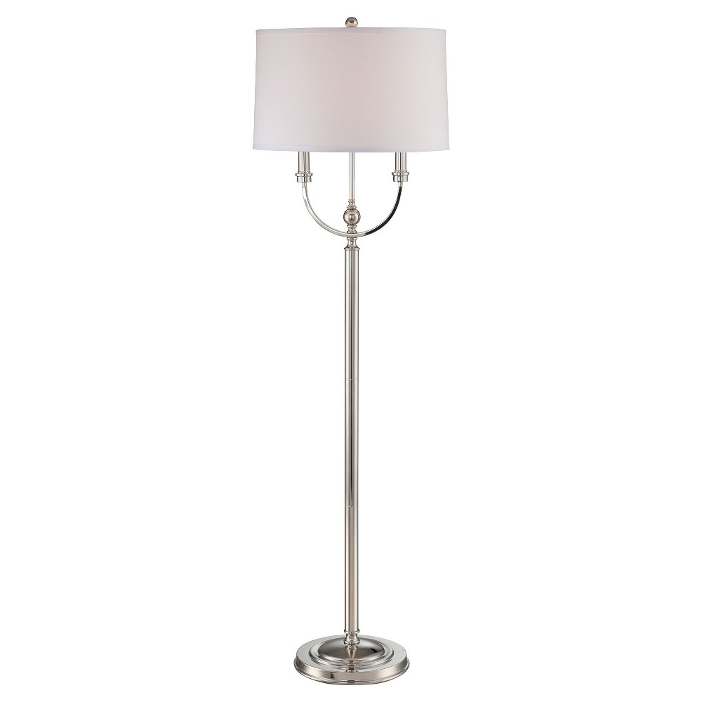 Camila Floor Lamp Polished Steel (Includes Energy Efficient Light Bulb) - Lite Source, Grey
