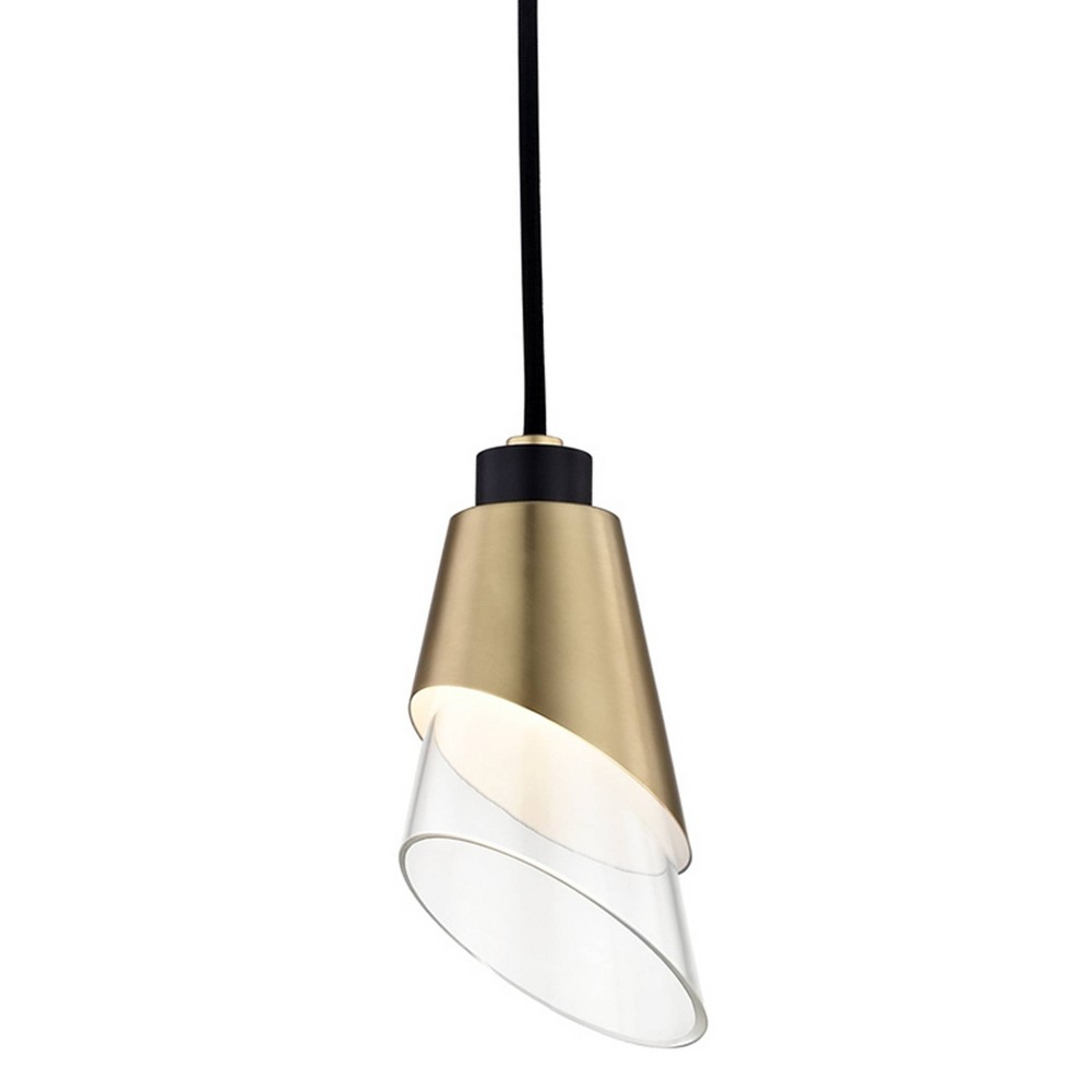 Angie LED Pendant Chandelier Aged Brass - Mitzi by Hudson Valley Discounts