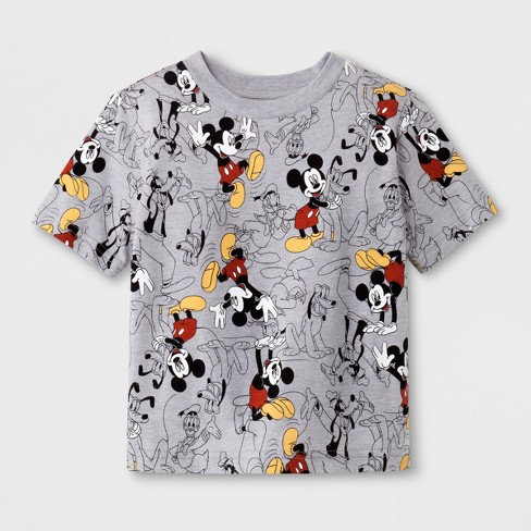 5c62375f03 Toddler Boys' Mickey Mouse Print Short Sleeve T-Shirt - Heather Grey