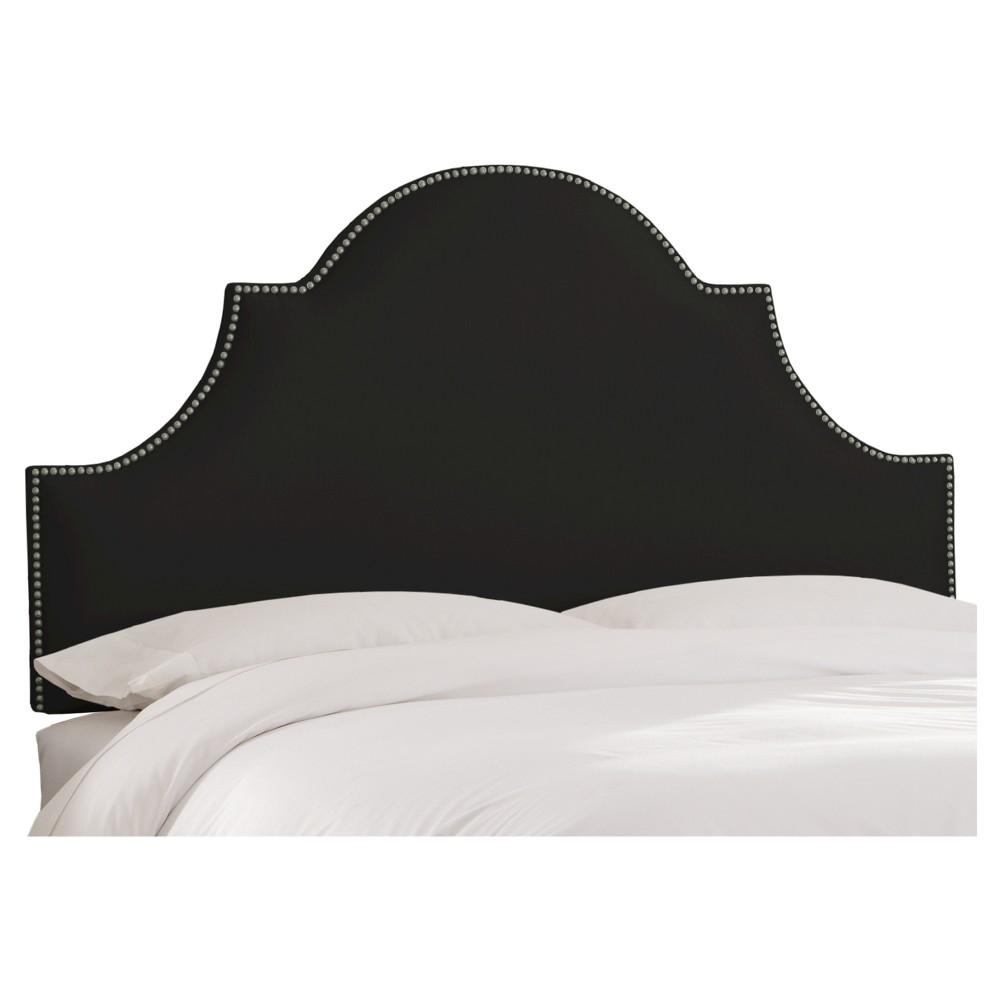 Chambers Headboard Shantung Black King Skyline Furniture