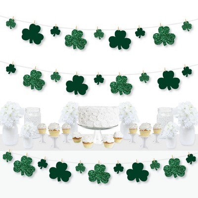 Big Dot of Happiness St. Patrick's Day - Saint Patty's Day Party DIY Decorations - Clothespin Garland Banner - 44 Pieces