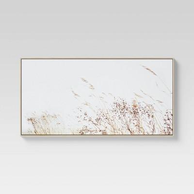 "47"" x 24"" Wheat Framed Wall Canvas - Threshold™"