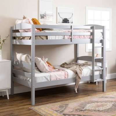 Twin over Twin Solid Wood Bunk Bed - Saracina Home