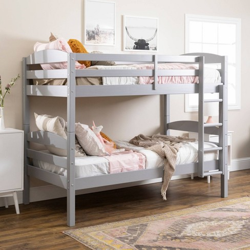 Twin Over Twin Solid Wood Bunk Bed Saracina Home Target