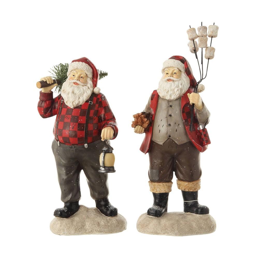 "Image of ""13.75"""" Resin Santa Decorative Figurine - 3R Studio, Red"""