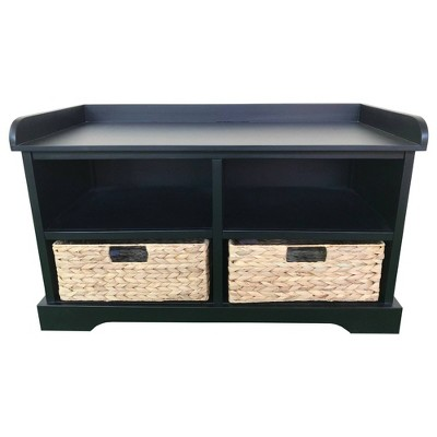 Hayden Storage Bench with 2 Baskets - Decor Therapy