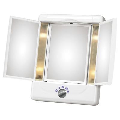 Conair Illumina Collection 3 Panel Lighted Makeup Mirror - Colors May Vary