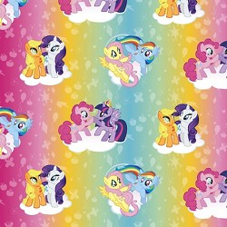 My Little Pony Ombre Toss Fabric