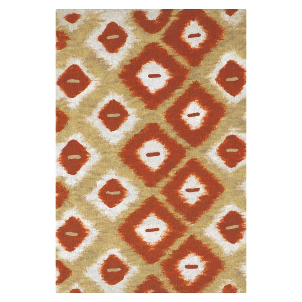 Red Abstract Pressed/Molded Accent Rug - (2'x3') - Liora Manne
